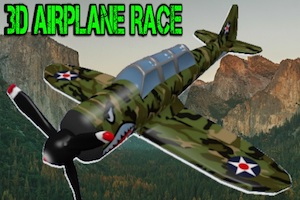 Jeu 3d airplane race simulator