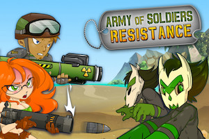 Jeu Army of soldiers resistance