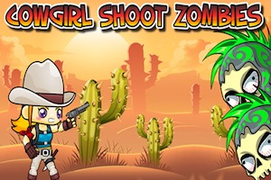 Jeu Cowgirl shoot zombies