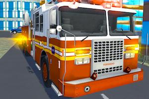 Jeu Fire truck rescue driving simulator