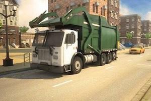 Simulateur de camion éboueur en ville