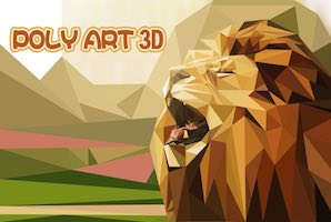 Jeu Poly art 3d