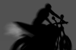 Shadow bike rider