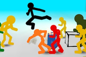 Jeu Stickman Street Fighting 3d